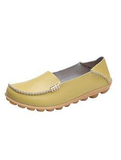 DUOYANGJIASHA Fashion Brand Best Show Women's Comfortable Leather Loafers