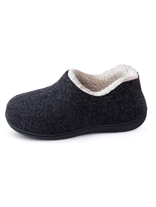 ULTRAIDEAS Women's Cozy Memory Foam Closed Back Slippers  Indoor Outdoor Rubber Sole