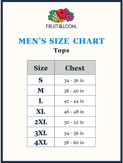 Fruit of the Loom Men's and Big Men's Dual Defense UPF Muscle Shirt, up to Size 4X