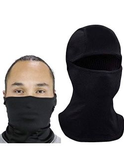Ski Mask Balaclava for Cold Weather, Windproof Neck Warmer or Tactical Balaclava Hood, Ultimate Thermal Retention for Men Women and Children Black