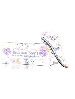 Bella And Bear Detangling Hair Brush (spring) The Best Detangler Brush For Wet Or Dry Hair No More Tangles No More Tears