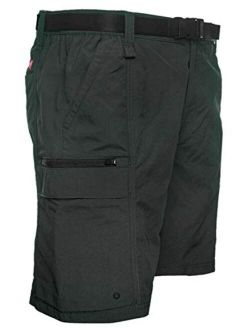 Coleman Men's Hiking Cargo Shorts with Belt Ideal for Inclement Weather