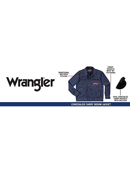 Wrangler Men's Concealed Carry Unlined Denim Jacket, Vintage