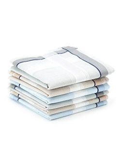 Selected Hanky 100% Cotton Men's Handkerchiefs 6 Piece Gift Set
