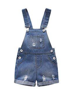 Kidscool Baby & Toddler Girls/Boys Big Bibs Ripped Hole Summer Jeans Shortalls
