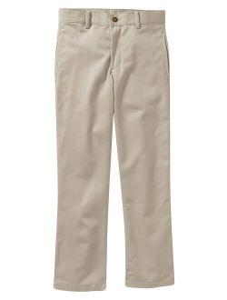 Boys School Uniform Slim Flat Front Twill Pants With Scotchguard (little Boys & Big Boys)