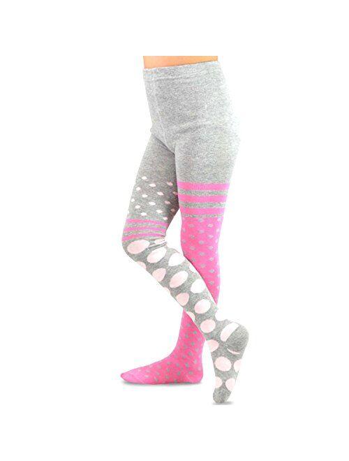 TeeHee Kids Girls Fashion Cotton/Micro Fiber Nylon Tights 3 Pair Pack