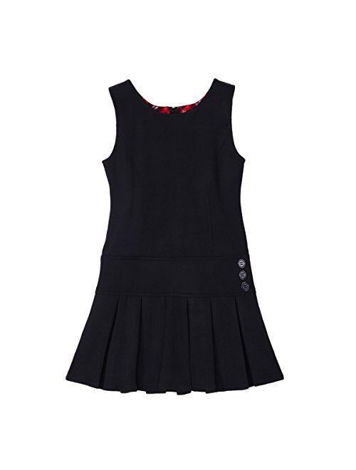 Bienzoe Girl's Pleated Hem School Uniform Jumper