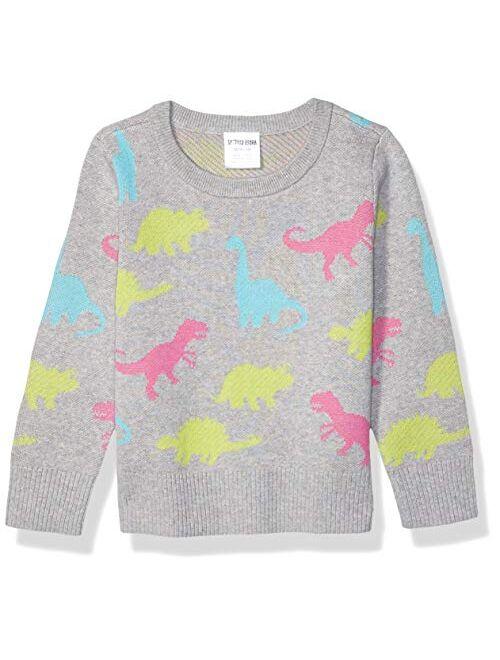 Amazon Brand - Spotted Zebra Girls Pullover Crew Sweaters
