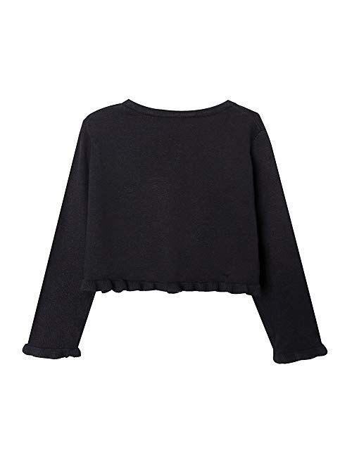 ZHUANNIAN Girls Knit Cardigan Shrug Ruffle Cropped Sweater Dressy Bolero Jacket