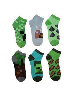 Boys' Minecraft 5pk + 1 Bonus Pack Socks