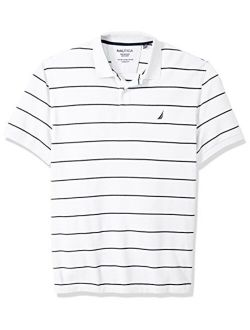Men's Big And Tall Classic Short Sleeve Striped Polo Shirt