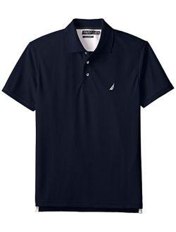 Men's Trim-fit Solid Tech Pique Polo Shirt