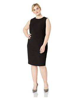 Women's Plus Size Sleeveless Princess Seamed Sheath Dress