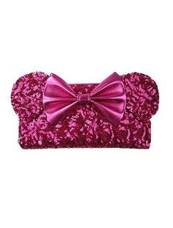 Disney Minnie Mouse Pink Sequin Wallet