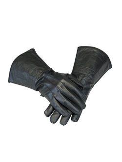 Historical Emporium Men's Victorian Driving/Cosplay Leather Gauntlets