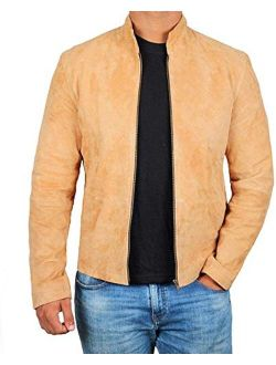 fjackets Suede Leather Jacket Mens Real Lambskin Suede Leather Jacket Morocco