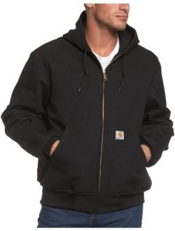 Men's Big And Tall Thermal-lined Duck Active Hoodie Jacket J131