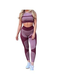 New Arrival! WYTong Women Yoga Pants,Ladies Heart Shape Patchwork Leggings High Waist Workout Sport Capris Tights