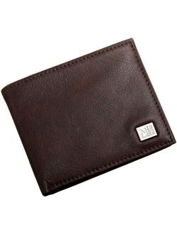 Men's Leather Bifold Wallet With Passcase