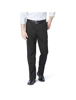 Men's Classic Fit Pleated Khaki Pants