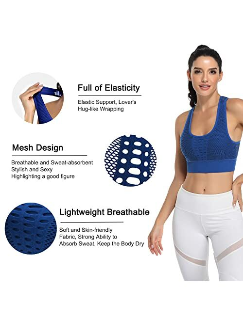 BHRIWRPY Cute Push Up Padded Strappy Sports Bras for Women Comfortable Bra for Activewear