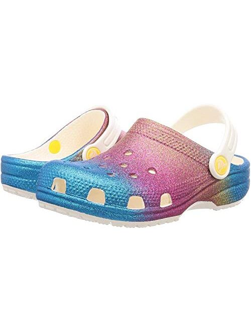 Crocs Kids Classic Clog | Glitter Girls | Slip on Shoes