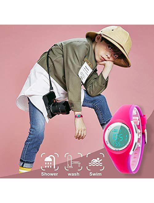 Kids Watch, Boys Sports Digital Waterproof Led Watches with Alarm Wrist Watches for Boy Girls Children