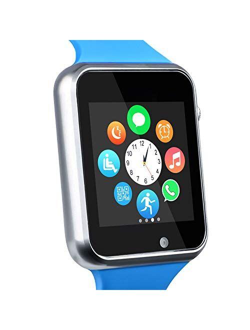 Funntech Smart Watch for Kids with Pedometer Bluetooth Unlocked 2G GSM Phone Call 1.54 Inch Touchscreen Camera