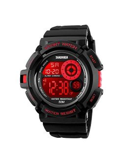 Boy's Digital Watch, Military Sports Watch with Alarm Stopwatch LED Backlight Waterproof Kids Watch for Boys