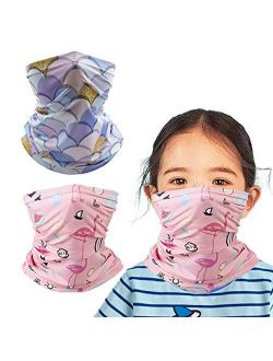 2PCS Neck Gaiter Bandanas Masks Magical Multi Protection Head wear For Kids