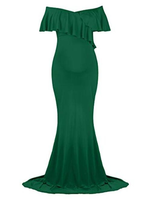 Dance Fairy Molliya Maternity Long Dress Women Ruffle Stretchy Sleeveless Maxi Dress