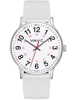 VAVC JE8272 Nurse Watch for Medical Students,Doctors,Women with Second Hand and 24 Hour. Easy to Read Watch