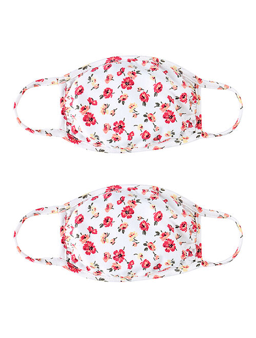 Ivory Floral Oval Non-Medical Face Mask - Set of Two