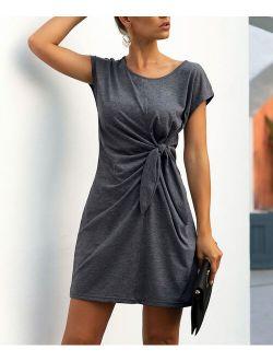 Supreme Fashion   Charcoal T-Shirt Dress - Women