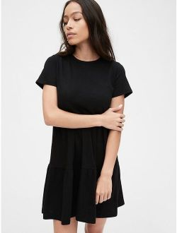 Tiered T-Shirt Dress in Modal-Cotton