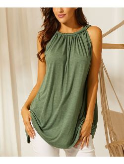 Simple by Suzanne Betro | Heather Olive Gathered-Neck Tank - Women & Plus