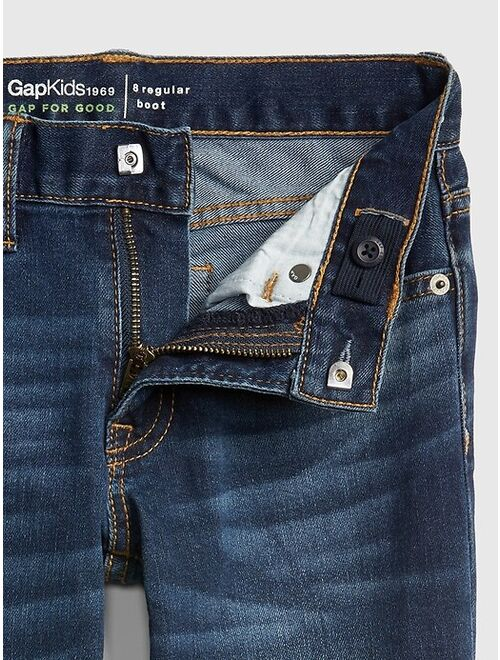 Kids Distressed Boot Jeans with Stretch