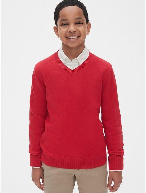 GAP Kids Uniform V-Neck Sweater