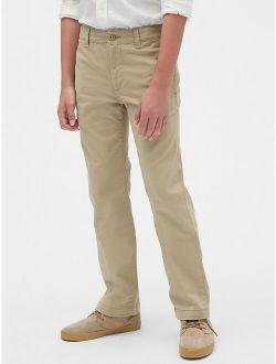 S Uniform Straight Khakis With Gap Shield