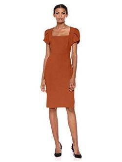 Women's Tulip Sleeve Sheath Dress