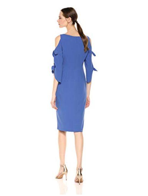 Donna Morgan Women's Tie Sleeve Midi Dress
