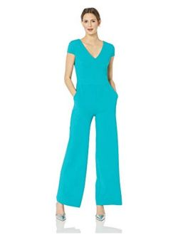 Women's Cap Sleeve V-neck Jumpsuit