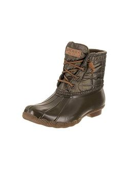 Women's Saltwater Shiny Quilted Rain Boot