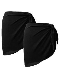 Sythyee Women's Swimsuit Cover Up Summer Beach Wrap Skirt Swimwear Chiffon Pareo Sarong Bikini Coverups