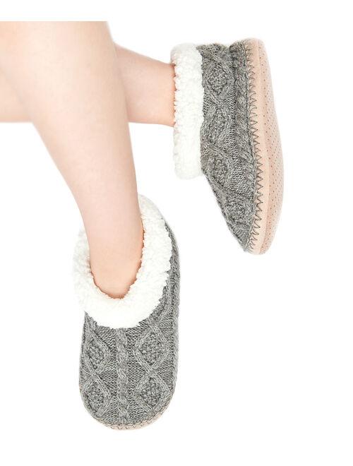 Cosyone 1997 | Gray Cable Knit Slipper Socks - Women