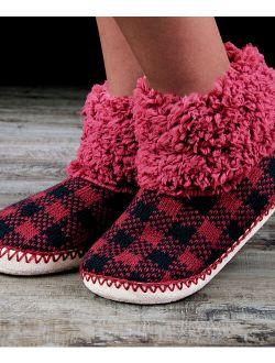 Cosyone 1997 | Red & Black Gingham Cuff Slipper Boot - Women