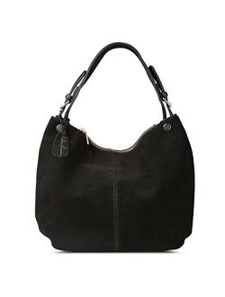 Nico Louise Women's Genuine Leather Suede Purse Shoulder Bag Casual Hobo bag
