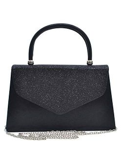 Women's Evening Bag Party Clutches Wedding Purses Cocktail Prom Handbags With Frosted Glittering