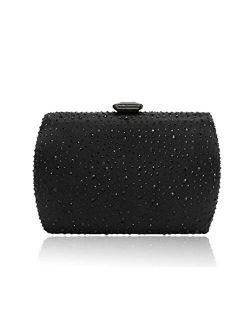 Sparkling Evening Clutch Purse Vandysi Elegant Glitter Bag Crystal Rhinestone Handbag for Dance Wedding Party Prom Bride